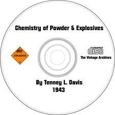 Chemistry of Powder & Explosives Vintage Book on CD - Pyrotechnics(1943)