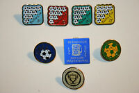 Wow Vintage Lot 8 Soccer Pinbacks 1980`s Budweiser Invitational Valley Cup Rare