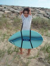 skim board carrier shoulder strap, hands-free, black, polyester, small