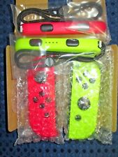 RARE NEW Nintendo Official Switch Joy-Con Neon Pink Yellow SET Console System FS