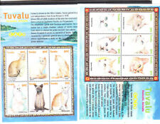 TUVALU 2000 CATS SET TWO S/S MNH VF