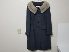 Vintage Rubel Originals Gray Wool Long Coat (Fur Collar)