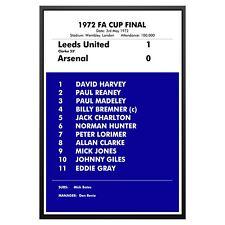 Leeds United 1972 FA Cup Final Match Poster Photo Print Leeds Memorabilia