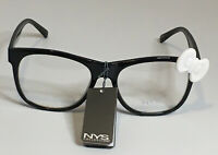 NYS COLLECTION GLASSES STYLE 1776 Cosplay Black Frames with WhiteBow UV400