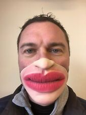Divertente Mezzo Volto Grande Grasso Labbra Maschera Bacio Jagger Botox