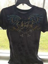 Sinful by Affliction Women's Short Sleeved T-Shirt