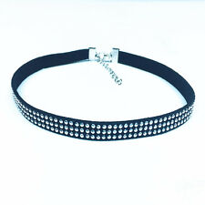 Women's Fashion Jewelry Black Rhinestone Choker Collar Necklace 46-11