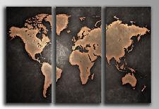 Cuadro fotografico base madera, 87 x 62 cm, Mapa Mundial Vintage, ref. 26138