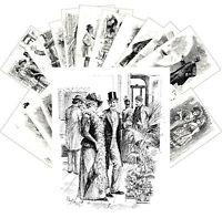 Postcards Pack [24 cards] Voces Populi Vintage Engravings by B Partridge CC1143