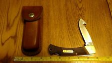 Schrade Old Timer USA 9-OT Gut Hook Lockback Hunting Knife Delrin Sheath