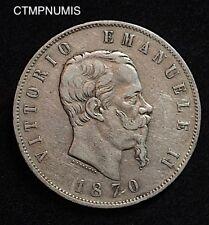 ITALIE 5 LIRE ARGENT 1870 M MILAN
