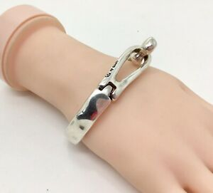 """Unode50 Silver Plated Tied Hinged Bracelet, 7""""/18cm RRP £89"""