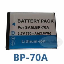 Camera Battery For SAMSUNG BP-70A WB30F ST150F DV150F ST72 ST66 ST76 AQ100 DV90