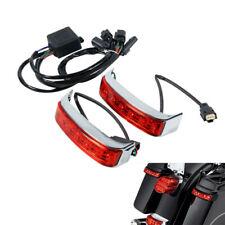 Saddlebag LED Run Brake Turn Light Red Len For Harley Road Glide FLHTK 2014-2020