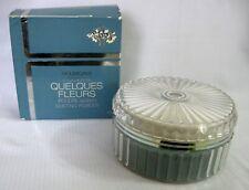 Vintage Unused Houbigant/ Quelques Fleurs 6.2 Ozs. Dusting Powder with Box b
