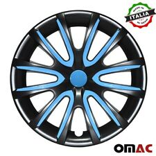 "14"" Inch Hubcaps Wheel Rim Cover  Black with Blue For Lexus RX 330 4pcs Set"