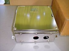 """Weidmuller TB11 4GP Stainless Electrical Terminal Enclosure 12"""" x 12"""" x 6"""""""