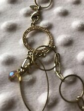 COOKIE LEE Multi-Function Pink Gold Champagne Necklace Belt 25529 NEW $44