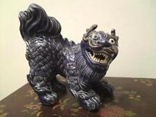 Large old statue seal mark signed Qilin kirin ceramic dragon lion dog figure 麒麟