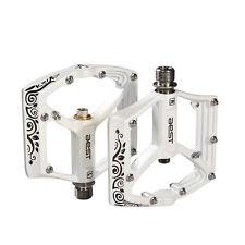 AEST Bike Seald Bearing Magnesium Pedals Titanium Spindle Ti Axle White