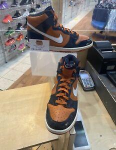 Nike Dunk High Messa Orange Size 11.5 White Dark Obsidian 305287-811