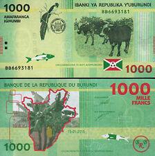 Burundi 1000 Francs 2015, UNC, P-52