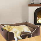 Orthopedic Memory Foam Dog Bed Waterproof Bolster Beds for Extra Large Dogs