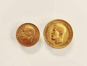 1899 Russian 10 & 5 Golden Coins