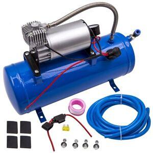 12V DC 150 PSI Druckluft Auto Kompressor Luftkompressor mit 6L Tank für Lufthorn