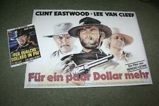 For A Few Dollars More Clint Eastwood Lee Van Cleef cinema poster