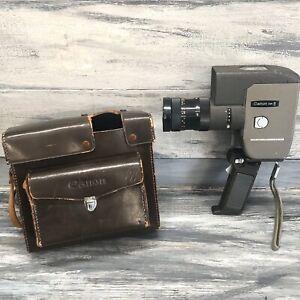 Vintage Canon Zoom 8 Movie Camera C-8 10-40mm f1.4 Lens Case Trigger grip Japan