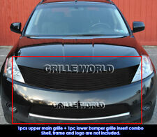 For 2003-2008 Nissan Murano Black Billet Grill Insert Combo