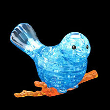 3D Lovely Crystal Puzzle Jigsaw Model Blocks Gifts Bird Blue with Color Lights