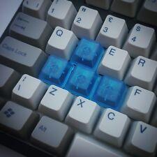 Blue Translucent Blank WASD Keycap Cherry MX Mechanical Keyboard Keycaps Set