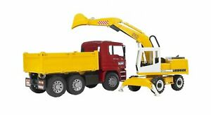 Bruder MAN TGA Construction Truck with Liebherr Excavator 02751