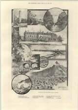 1893 Chinese Tragedy Cartoon Rene Bull North-west Coast Ireland