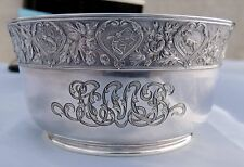 SPAULDING & CO. STERLING SILVER ASTROLOGY ZODIAC SIGNS BOWL 1895