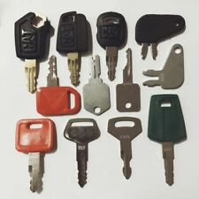 12 Construction Ignition Keys / Heavy Equipment Key Set CAT Volvo Case Hitachi