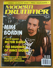 Modern Drummer Magazine April 1992 Mike Bordin, Milton Sledge