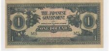 Malaya Japanese Occupation $1, JIM, counterfeit prefix MS (UNC)