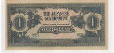 Malaya Japanese Occupation $1, JIM, counterfeit prefix MS (UNC)