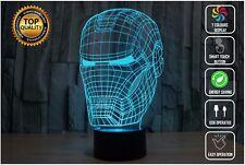 IRON MAN AVENGERS MARVEL 3D Acrylic LED 7 Colour Night Light Touch Desk Lamp