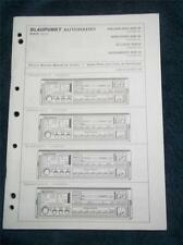 Original Blaupunkt Autoradio Service Manual~SQR 49 SQR 29 Car Radio~Porsche 911