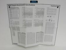 Genuine Polaris Dealer Service Snowmobile Suspension Data Spec Sheet 2002