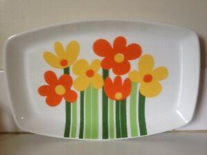 Vintage Figgjo Annemarie Large Serve Platter Norway Scandinavian Design Pop Art