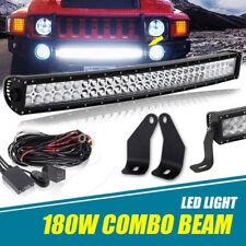 "30"" 32 Inch Curved LED Light Bar +Hidden Bumper Brackets For 2006-2010 Hummer H3"