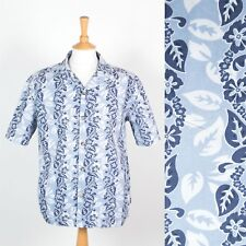 MENS CHIEMSEE SHIRT HAWAIIAN STYLE BUE FLORAL PATTERN LOTUS SURF 00'S Y2K M
