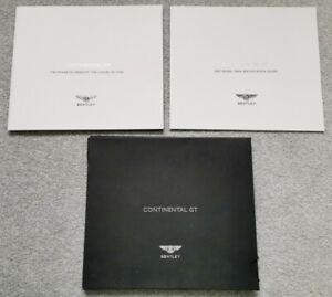 Bentley Continental GT 6.0 2007 Model Year Brochure + Specs Brochure In Folder