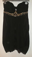 Lipsy London Strapless Black Dress with Attachable Strap UK Size 12 - Free P&P