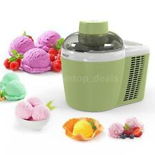 1pint Electric Fruit Ice Cream Maker Machine Built-in Cooling System Green O8D1